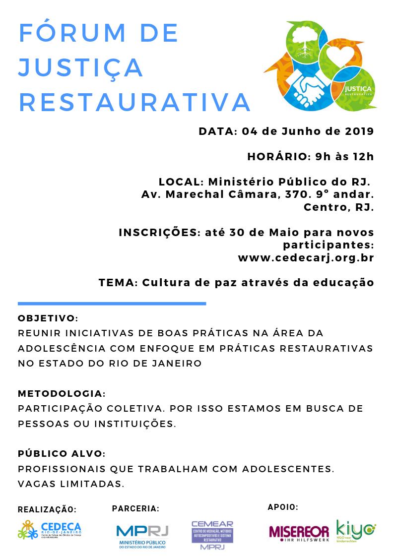 Fórum de Justiça Restaurativa PARCEIRO MPRJ_04.06.19