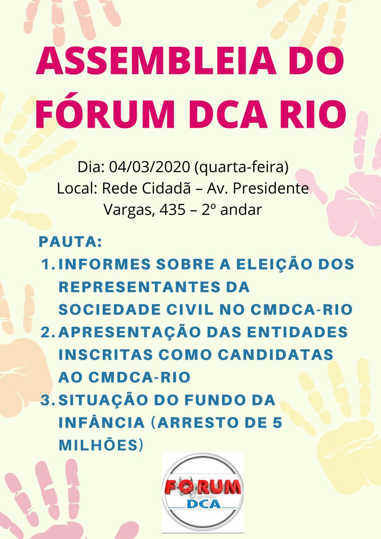 Assembleia Forum DCA 2020